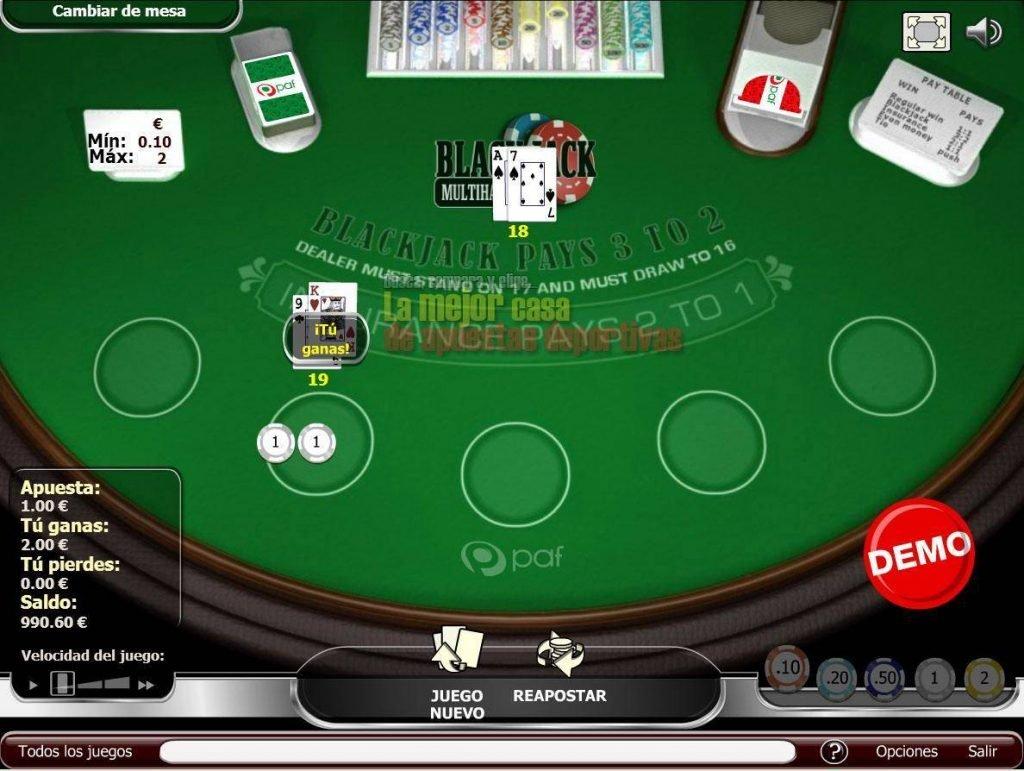 paf casino blackjack